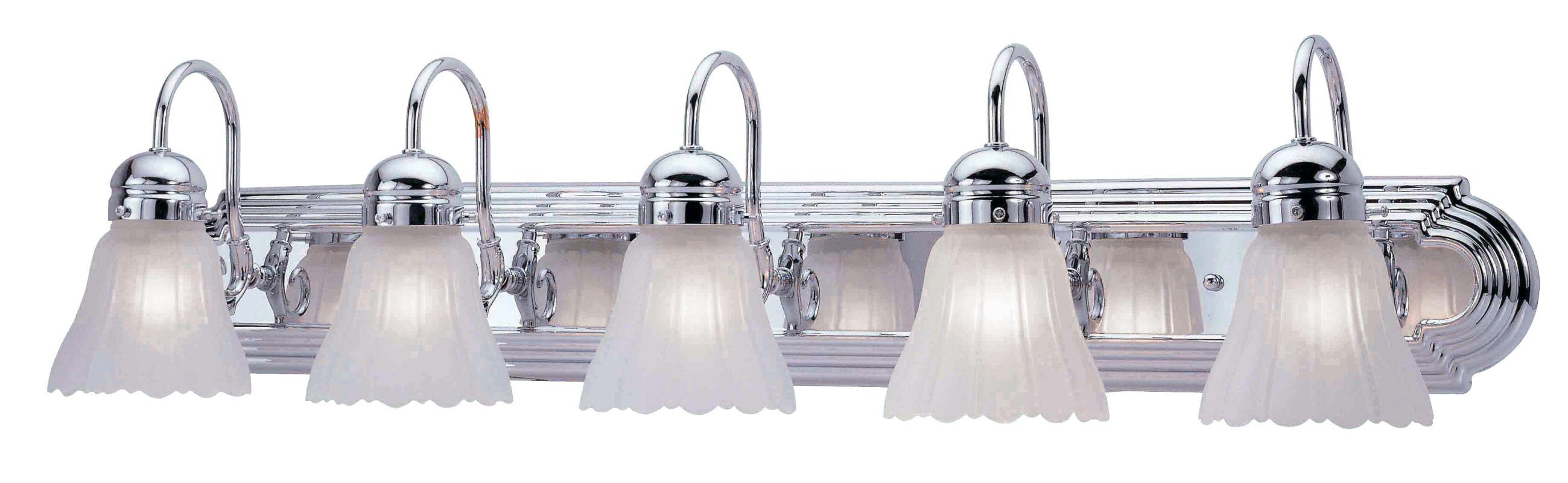Bathroom Vanity Lights Facing Up : Livex Lighting 1105-05 Chrome Belmont 5 Light Bathroom Vanity Light - LightingDirect.com