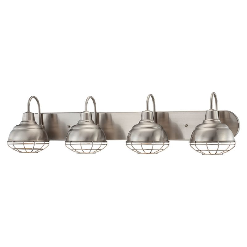 Shop Millennium Lighting 3 Light Neo Industrial Rubbed: Millennium Lighting 5424-SN Satin Nickel Neo-Industrial 4