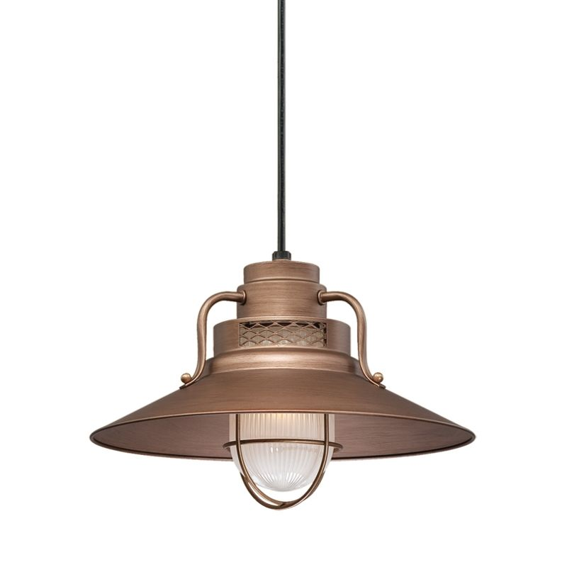 Modern Copper Ring Led Pendant Lighting 10758 Shipping: Millennium Lighting RRRC14-CP Copper R Series 1 Light 14