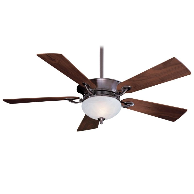 """Ceiling Fans With Up And Down Lights: MinkaAire F701-PW Pewter Delano 52"""" 5 Blade Indoor Ceiling"""