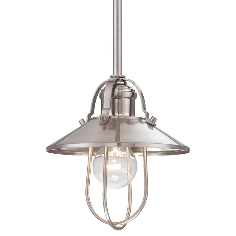 "Minka Lavery 2250-84 Brushed Nickel 1 Light 8"" Height"