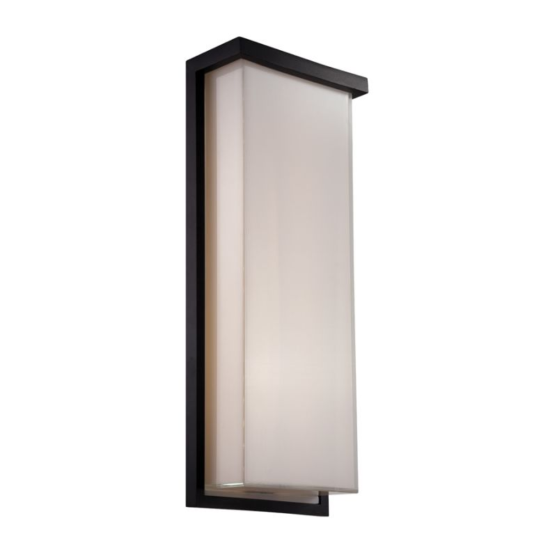 Modern Forms Wall Sconces : Modern Forms WS-W1420-BK Black Ledge 1 Light LED ADA Compliant Outdoor Wall Sconce - 8 Inches ...