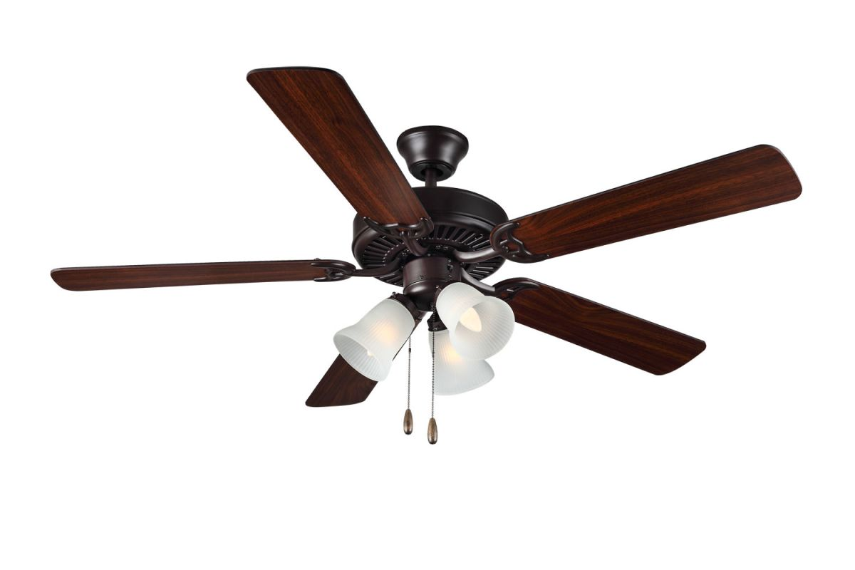 monte carlo bf3 bz bronze builder fan iii 52 5 blade. Black Bedroom Furniture Sets. Home Design Ideas