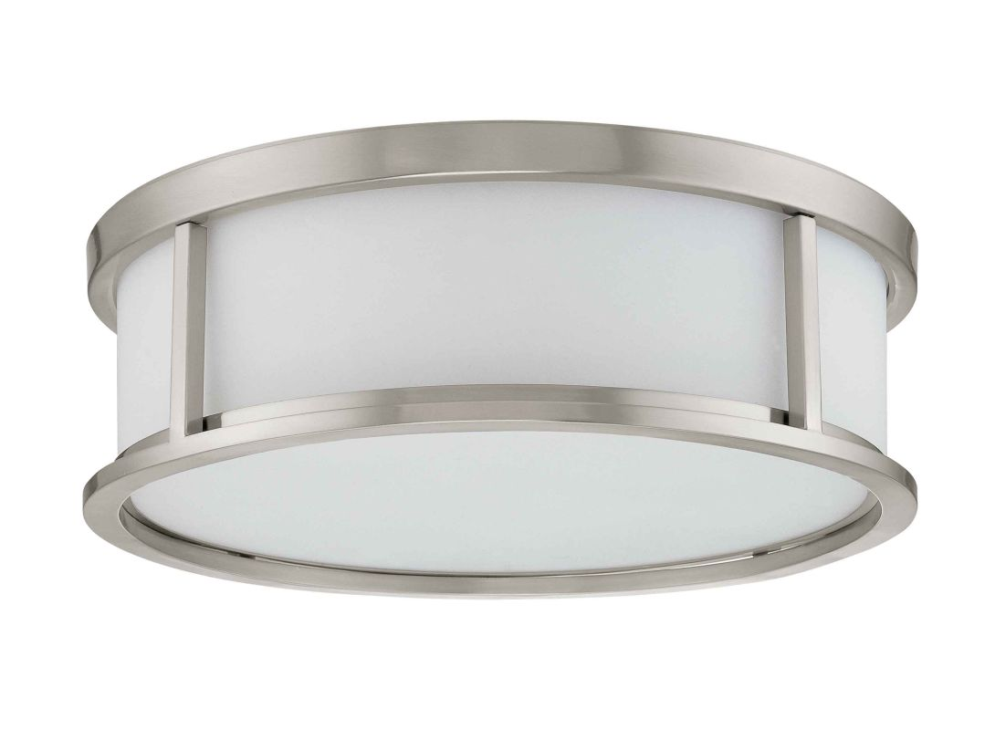Shop Portfolio 3 Light Vassar Brushed Nickel Bathroom: Nuvo Lighting 60/2862 Brushed Nickel Odeon 3 Light Flush
