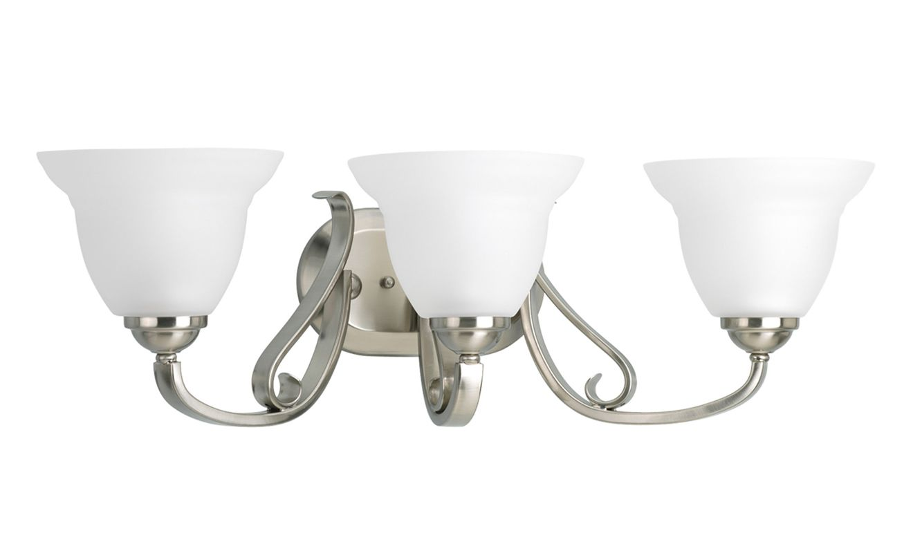 Progress Lighting Rizu Collection 3 Light Brushed Nickel: Progress Lighting P2883-09 Brushed Nickel Torino Three