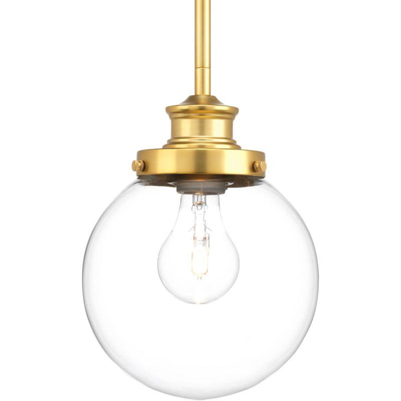 Progress lighting p5067 137 natural brass penn mini for Progressive lighting