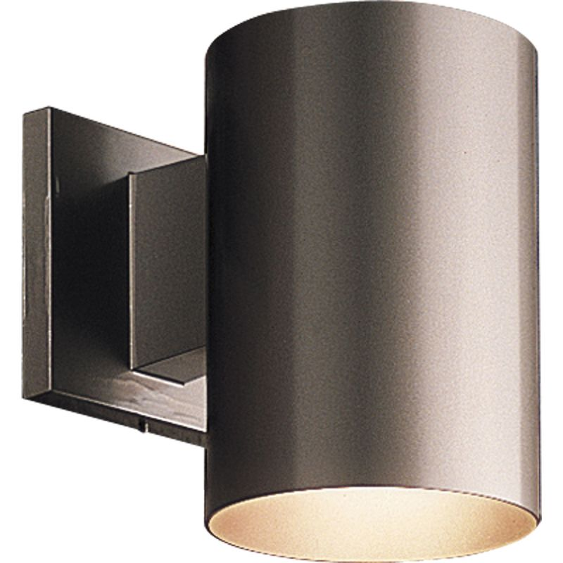 Progress Lighting P5674 20 Antique Bronze Cylinder 1 Light Outdoor Wall Sconc