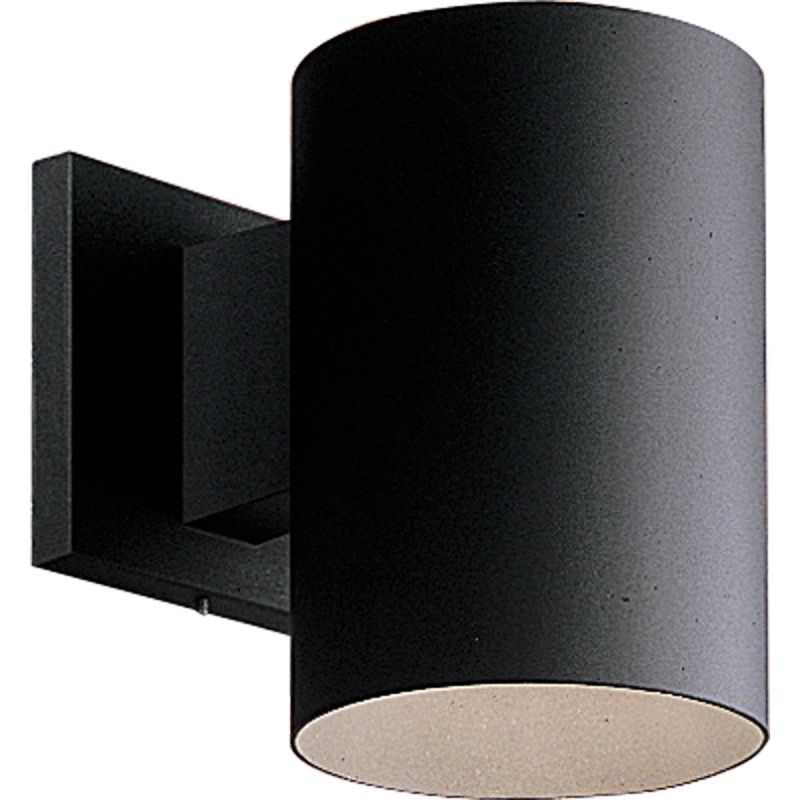 Progress Lighting P5674 31 Black Cylinder 1 Light Outdoor Wall Sconce With Me