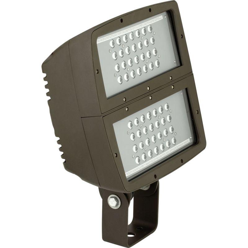 200w 5000k Flood Light With Lens: Progress Lighting PCOFL-200LED-20 Dark Bronze LED Flood