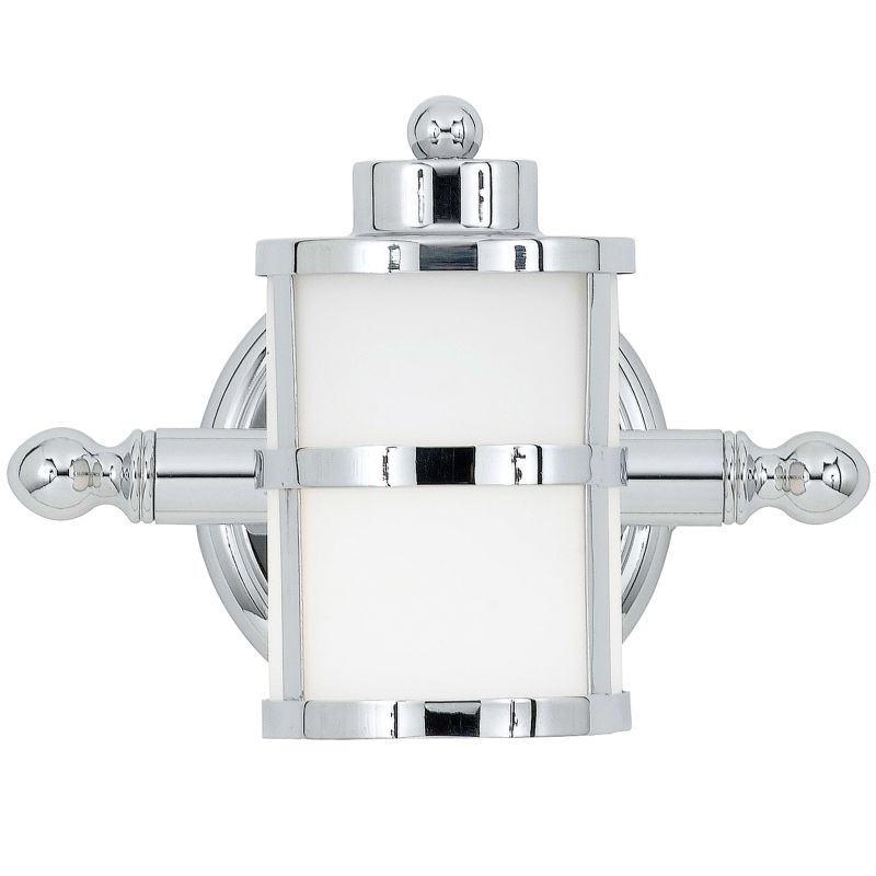 Can Vanity Lights Be Installed Upside Down : Quoizel TB8601C Polished Chrome Tranquil Bay 1 Light 9