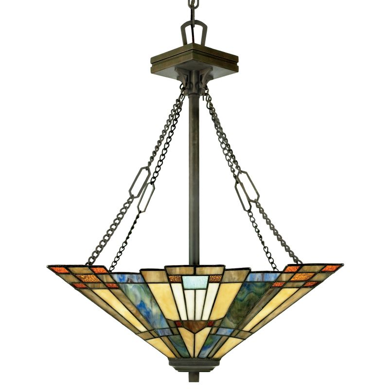 Quoizel TFIK2817VA Valiant Bronze Inglenook 3 Light Bowl