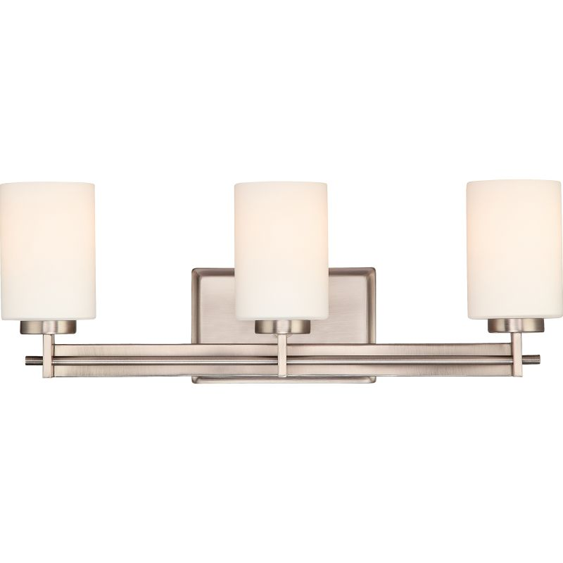 Can Vanity Lights Be Installed Upside Down : Quoizel TY8603AN Antique Nickel Taylor 3 Light 21