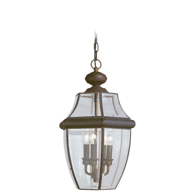 Porch Light Pendant: Sea Gull Lighting 6039-71 Antique Bronze Lancaster 3 Light