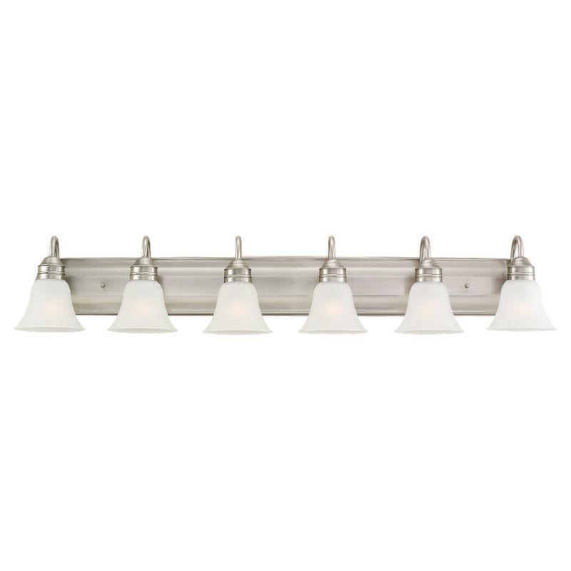Sea Gull Lighting 44855-965 Antique Brushed Nickel Gladstone 6 Light Bathroom Vanity Light ...