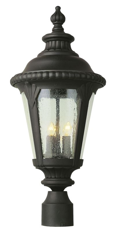 Trans Globe Lighting 5047 Bk Black Three Light Outdoor