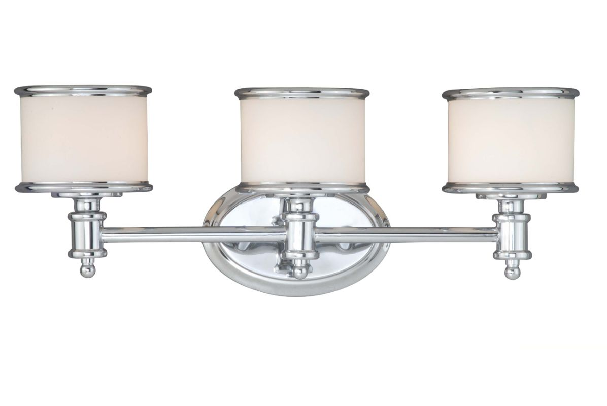Chrome Bath Lighting Fixtures: Vaxcel Lighting CR-VLU003CH Chrome Carlisle 3 Light