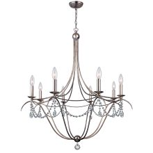 Metro 8 Light Single Tier Adjustable Chandelier