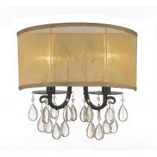 Hampton 2 Light Candle Style Flushmount Wall Sconce