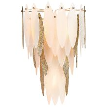 Vega 3 Light Wall Sconce with Cream Shade
