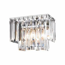 1 Light Flush Mount Bathroom Sconce with Crystal Shades from the Palacial Collection