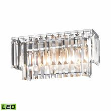 2 Light LED Bathroom Vanity Light with Crystal Shades from the Palacial Collection