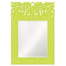 "Oakvale 25"" x 17"" Green Mirror"