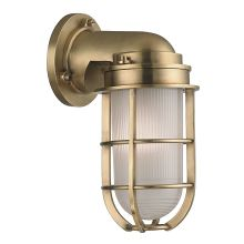Carson 1 Light Nautical Outdoor Wall Sconce with Pressed Glass Shade