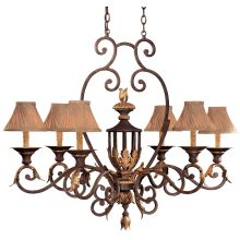 "6 Light 21"" Width 1 Tier Candle Style Chandelier from the Zaragoza Collection"