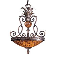 3 Light Bowl Shaped Pendant from the Salamanca Collection