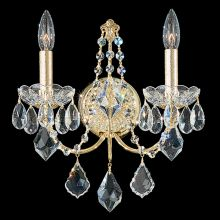 "5 1/2"" Wide 2 Light Candle-Style Wall Sconce from the Century Collection"