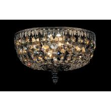 "10"" Wide 4 Light Flush Mount Ceiling Fixture From The Rialto Collection"