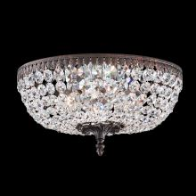 "14"" Wide 6 Light Flush Mount Ceiling Fixture From The Rialto Collection"