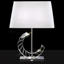"Boutique Single Light 25"" High Accent Lamp with Crystal Accents and a Configurable Fabric Shade"