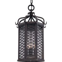 Los Olivos 4 Light Energy Star Rated Outdoor Pendant with Seedy Glass