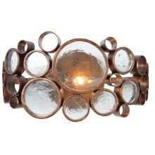 Fascination 1 Light Hand Forged Recycled Steel Wall Sconce