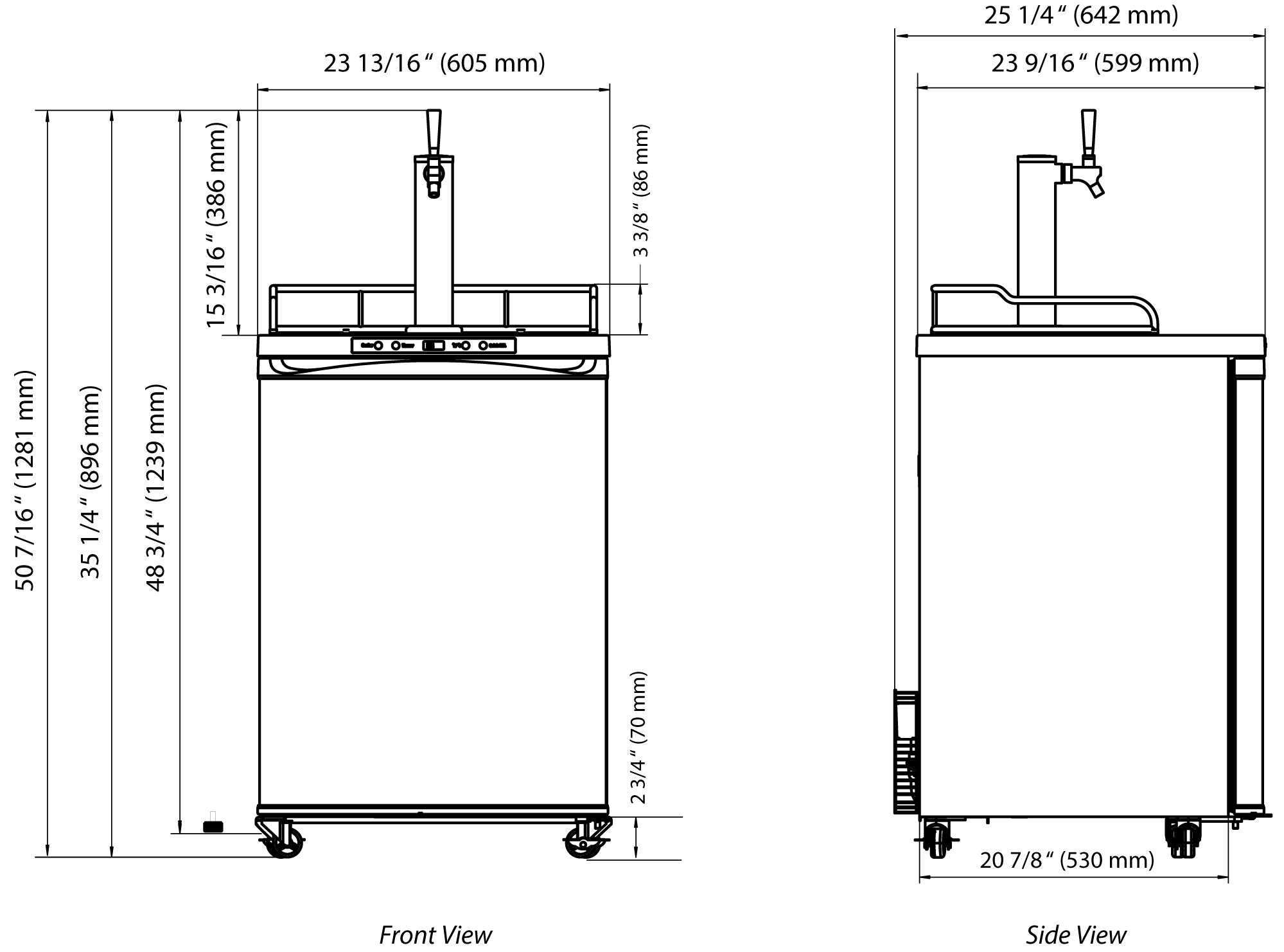 edgestar kc3000ss stainless steel 24 inch wide kegerator. Black Bedroom Furniture Sets. Home Design Ideas