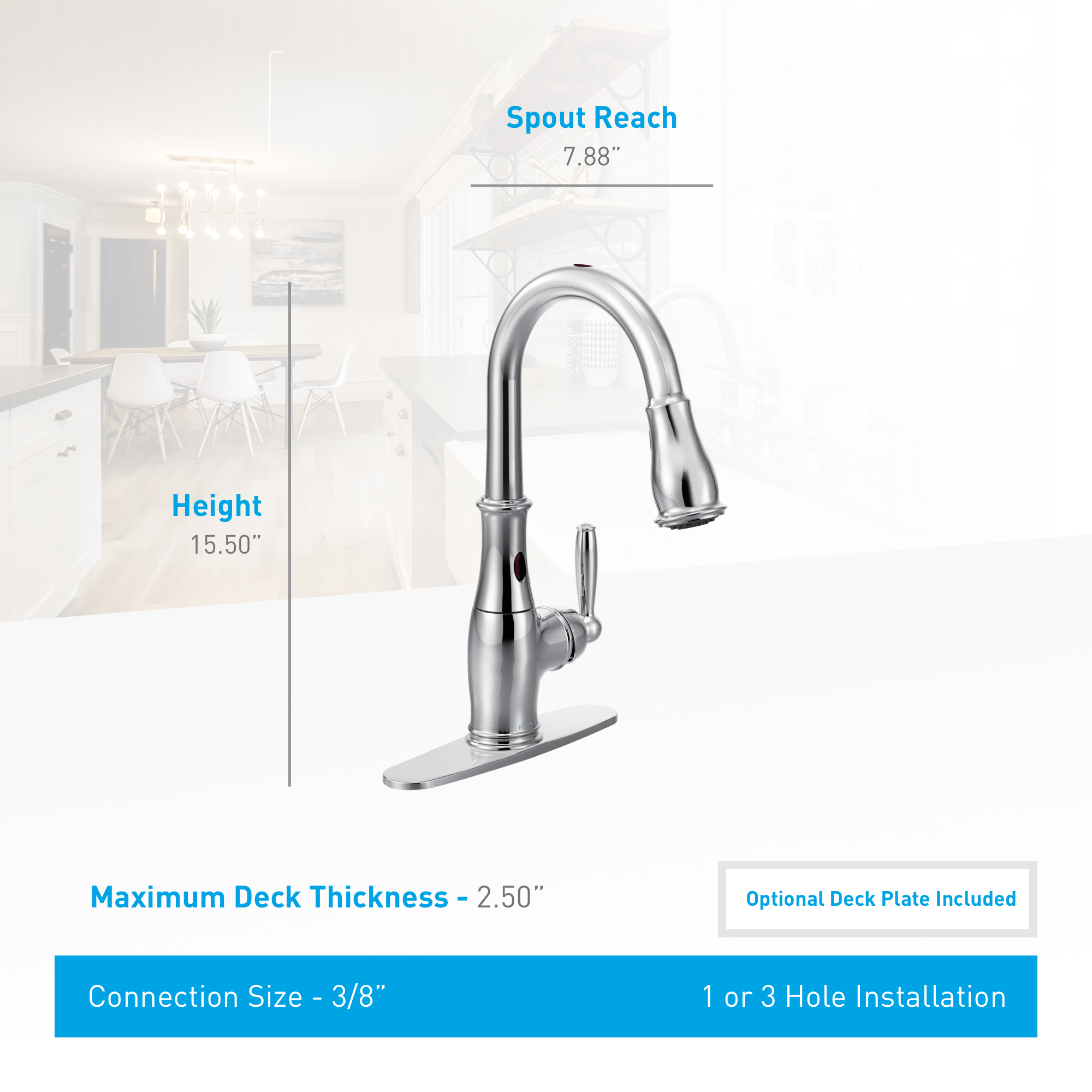 Moen 7185eorb Oil Rubbed Bronze Single Handle Touchless