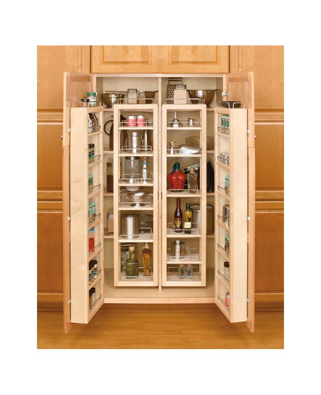 Rev A Shelf 4wp18 51 Kit Natural 4wp Series 51 Swing Out Complete Tall Pantry With Hardware