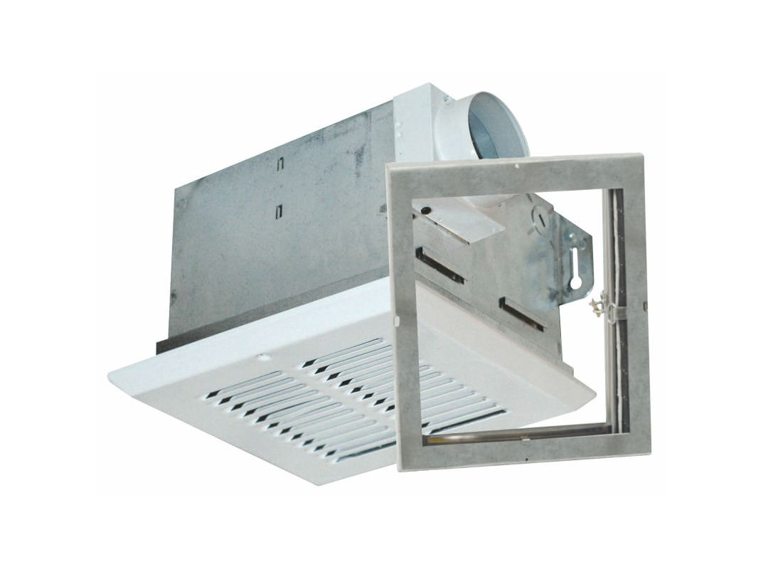 Air King Fras50 White 50 Cfm Quiet Bath Fan Only With 3 2 Sones From The Fire Rated Collection