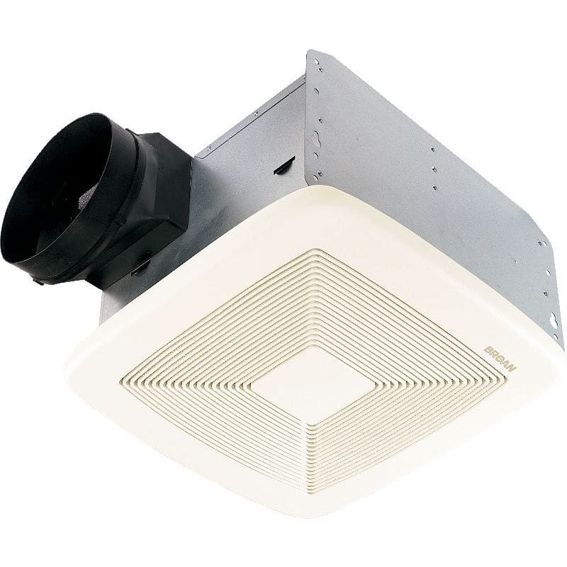 Shop Broan 0 3 Sone 110 Cfm White Bathroom Fan Energy Star: Broan QTXE110 White 110 CFM 0.7 Sone Ceiling Mounted