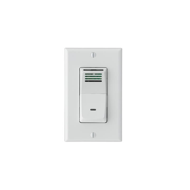 Broan 82w White Humidity Sensing Bath Fan Wall Switch With Sensaire Technology And Led Indicator